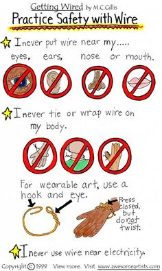 Getting Wired-Learn about wire sculpture-Page 2 Safety with wire