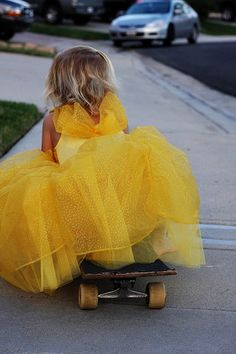 Cinderella on a skateboard! Yeah!