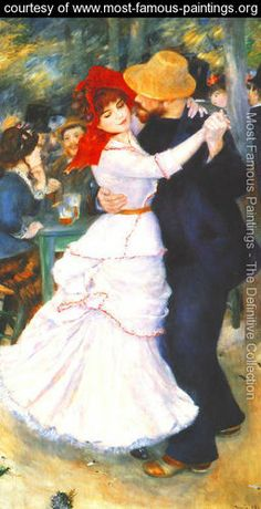 Dance At Bougival - Pierre Auguste Renoir - www.most-famous-paintings.org