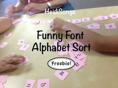 Funny Font #Alphabet Sort Freebie from HeidiSongs! Great for visual perception practice!