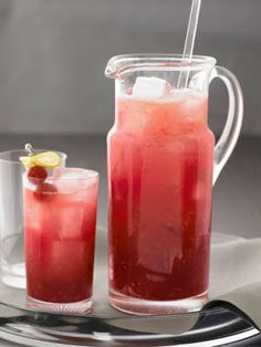 Berry Lemonade punch - citrus vodka, lemonade, & raspberries