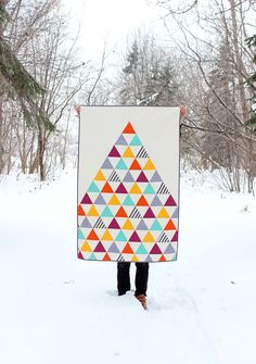 Homemade Triangle Baby Quilt / Toddler Quilt