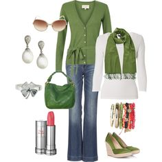 Love this color green, cute for the fall