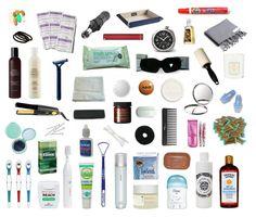visual packing list: toiletries/first aid/sundries