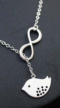 infinity bird necklace