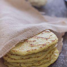 Cauliflower Tortillas (Paleo, Grain Free, Gluten free) Recipe with cauliflower, eggs, pepper, salt