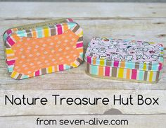 Nature Treasure Hunt Box #camping #kidsfun #craftlightning