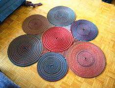 DIY climbing rope rug something fun to do when it's time to retire the ropes