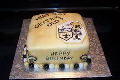 Thanks to Jodi Brindley from Aylmer, Ontari for sending us a picture of this Saints-themed birthday cake! #NOLA #GroomsCake #BirthdayCake #Saints