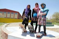 """40% of Afghanistan's skateboarders are female.100 % of those are tough as nails. """