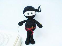 Amigurumi Crochet Black Ninja Pattern by AllSoCute on Etsy, $2.50