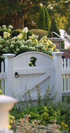 The cutest gate! Janice Parker Landscape Design