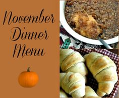 Mommy's Kitchen: November 2012 Menu