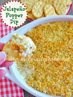 """Jalapeño Popper Dip """"This dip is outta this world good! Make it for Christmas parties, New Year's Eve parties or football gatherings!"""" Super Bowl APPETizer"""