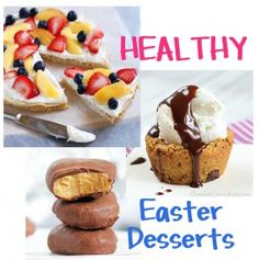 Fifteen healthy Easter desserts: http://chocolatecoveredkatie.com/2013/03/27/healthy-easter-desserts-15-healthy-recipes/