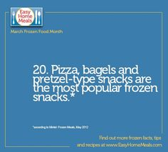 What's your favorite snack found in the frozen food aisle?