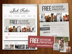 A Rigo Design ad campaign for Josh Fisher Photography.