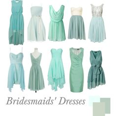 Bridesmaids Dresses | Mint by pinkrubbersoul on Polyvore