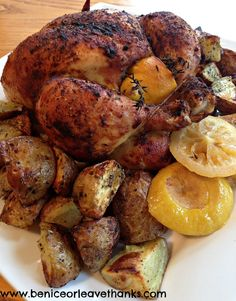 Beautifully Perfect Roast Chicken and New Potatoes