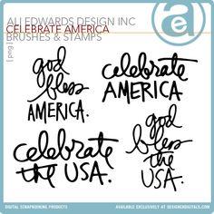 Celebrate America | Word Art Freebie by Ali Edwards