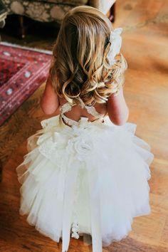 Flower Girl Dress  Lace Tutu style soft ivory by JezebelJerry, $200.00