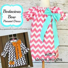 bodacious bow peasant dress sewing pattern collage 1