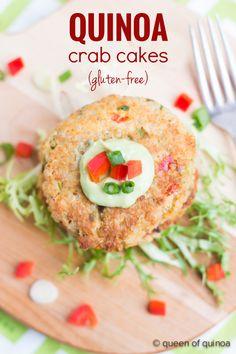 Quinoa Crab Cakes - Find the Recipe on RachelCooks.com - Recipe by Queen of Quinoa