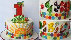 The Very Hungry Caterpillar Birthday Cake by Jo Takes the Cake, Singapore. You'll find this Cake Appreciation Society Member in our Directory at www.cakeappreciationsociety.com