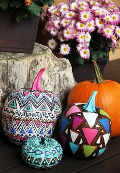 Creative Pumpkin Painting Ideas | alisa burke s creative painted pumpkins is a great home decorating ...