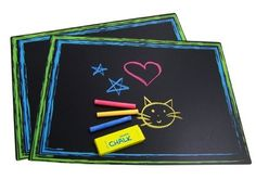 Sassafras / Set of 2 Chalkboard Placemats with Chalk