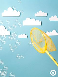 Children are fascinated by bubbles. Head outside and have fun blowing, catching and popping bubbles!