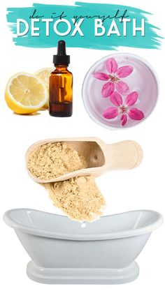 DIY Detox Bath! Relax  soothe aching muscles at home! #DIY