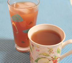Rosy Tea made with orange and cranberry juice - A Pinch of Joy