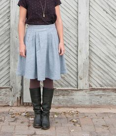 Fancy Tiger Crafts: Jaime's Zinnia Skirt & Scout Tee