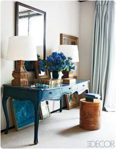 elle decor blue rooms | Elle Decor