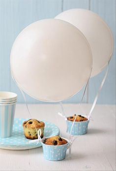hot air balloon, muffin cooking ideas