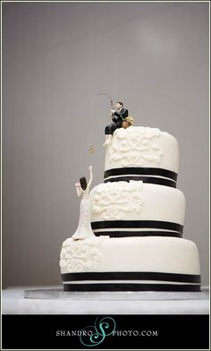 Fishing Themed Wedding Cake