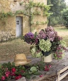 Italian Inspiration...can hydrangeas be far behind?