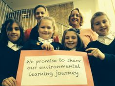 Our youngest (and cutest) pledgers yet! St Lawrence C of E Primary School pledge to share their environmental learning journey.