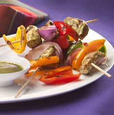 La Roca's Sweet Mini Pepper  Spicy Chicken Brochettes