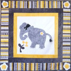 Ella Cuddle Kit - RIDICULOUSLY soft minkee-type cuddle cloth fabric. Appliqued elephant is extra plush cuddle fabric. Way too cute, perfect baby quilt!