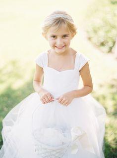 Cute flower girl: http://www.stylemepretty.com/2014/10/27/elegant-summer-black-tie-wedding-in-atherton/ | Photography: Coco Tran - http://www.cocotran.com/