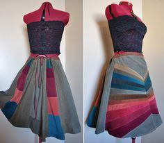 $41 handmade patchwork skirt