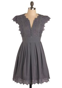 simple grey dress-love this!