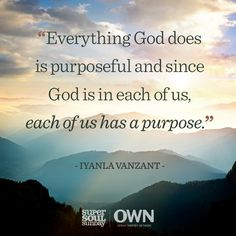 Each of us has a purpose from God