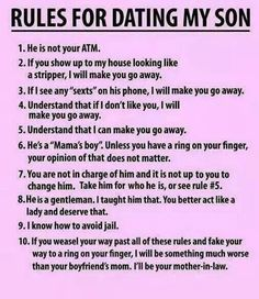 Rules for dating.