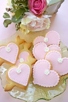 Valentine hearts cookies