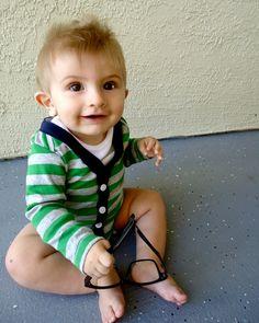 Baby Cardigan Onesie - Preppy Baby Boy Sweater - Cute Baby Boy Clothes