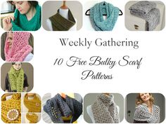 Weekly Gathering: 10 Free Bulky Scarf Crochet Patterns!