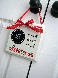 Christmas countdown diy
